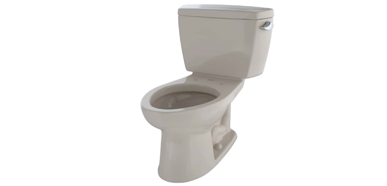 TOTO CST744SL#01 Drake 2-Piece Ada Toilet with Elongated Bowl