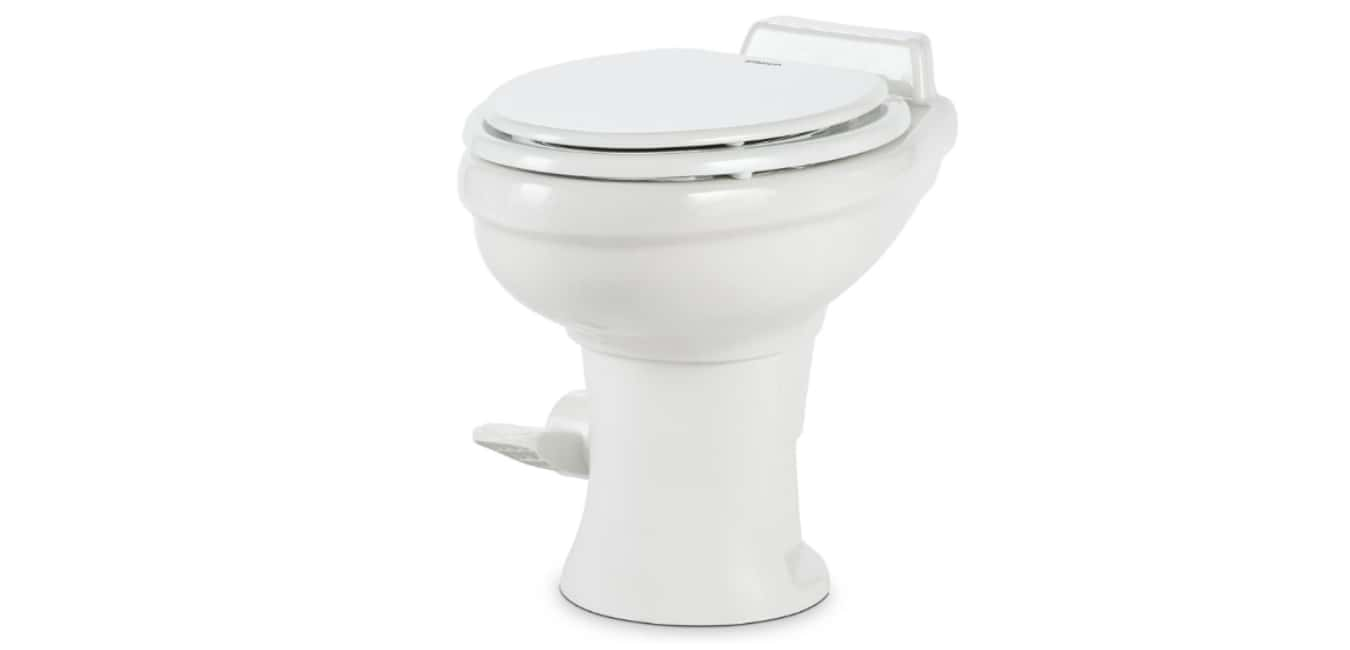 Dometic 320 Series Standard Height Toilet wHand Spray, White