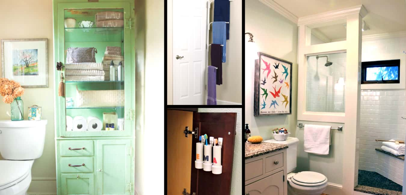 How to maximize space in your small bathroom