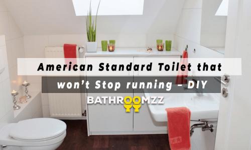 American Standard Toilet that won't Stop running - DIY