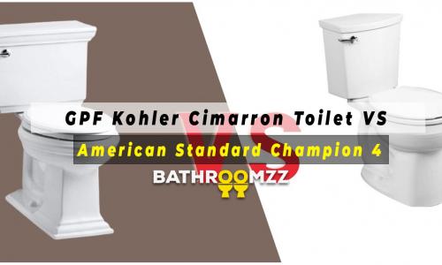 GPF Kohler Cimarron Toilet VS American Standard Champion 4